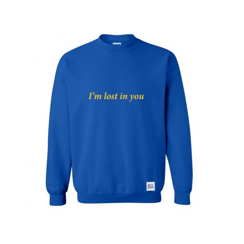 Crewneck  i'm lost in you Beyries Blue